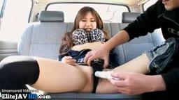 車で犯された日本の十代のおもちゃ