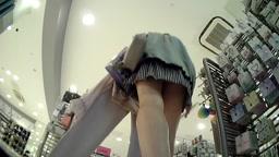 Upskirt Shopping Lady