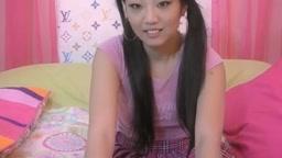Alluring Asian Babe Reveals Stiff Nipples On Webcam