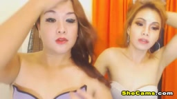 Horny and Sexy Tranny With her Bestfriend on Cam