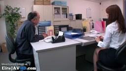 古い上司と日本の秘書ラフオーガズム