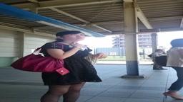 【限定10セット!】激エロ薄い黒ストッキングお姉さんをスカートめくりで純白パンティ透け透け!!No.2