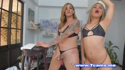 Tgirl Couple Hot Blowjobs and Ass Licking
