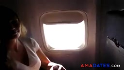 Masturbation on the plane